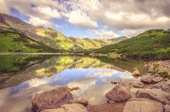Lake in mountains. royalty free stock image