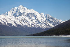 Lake and Mountains in Spring Royalty Free Stock Photo
