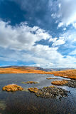 Lake, mountains, steppe Stock Image