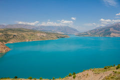 Lake in mountains. On summer Stock Image