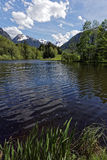 Lake and mountains. In summer Royalty Free Stock Photos