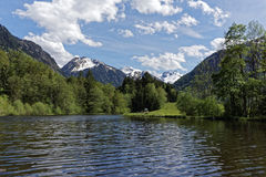 Lake and mountains. In summer Stock Photo