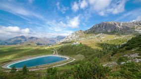 Lake and Mountains stock footage