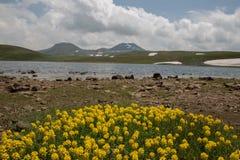 Lake At the mountains volcanic Lake stock image