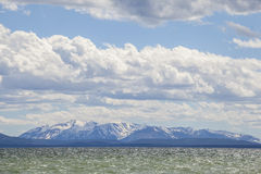 Lake and mountains in Yellowstone National Park. Stock Photos