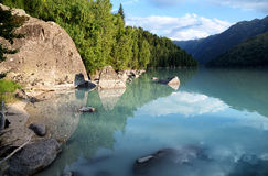 Lake in mountains Royalty Free Stock Photo