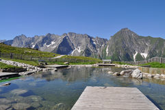 Lake and mountains of the Ziller river valley. Austria. Views of the lake and the mountains of the Ziller river valley. Lower Austria Stock Photography