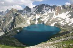 Lake Murudzhu blue. The lake is located in mountains of the North Caucasu Stock Photo