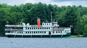 Steamship Wenonah II cruising on Lake Muskoka stock photo