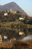 The lake of Muzzano near Lugano Stock Photography