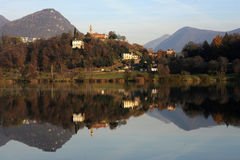 The lake of Muzzano near Lugano Royalty Free Stock Photos