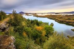 Lake Myvatn royaltyfria bilder