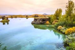 Lake Myvatn Arkivfoto