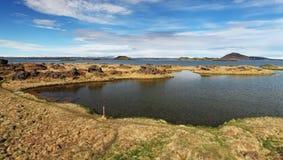 Lake Myvatn - Iceland Stock Image