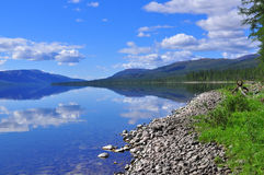 Lake Nakomyaken in the Putorana plateau. Stock Image