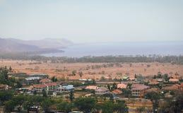 Lake Nakuru, Kenya. Lake Nakuru from Hyrax Hill Museum with a 300mm telephoto lens, The Great Rift Valley, Kenya Stock Photo