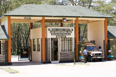 Lake Nakuru National Park gate Stock Images