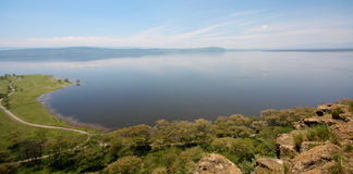 Lake Nakuru. A wide angle view of Lake Nakuru National Park in Kenya Stock Photography
