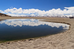 Lake in Nam Co, Tibet Royalty Free Stock Photos
