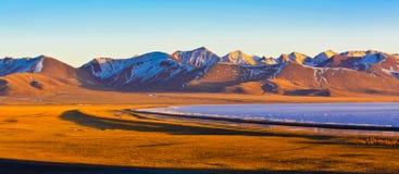 Lake Nam in dusk Royalty Free Stock Photography