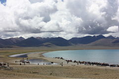 Lake Namtso, Tibet Royalty Free Stock Images