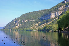 Lake Nantua, France stock image