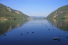 Lake Nantua, France Stock Photography