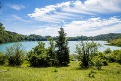 Lake of Narlay. In the french Jura region royalty free stock photo