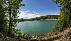 Lake of Narlay. In the french Jura region stock images