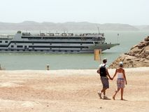 Lake Nasser. Near Abu Simbel, Egypt Stock Photos