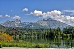 The  lake in National Park High Tatra. Strbske ple Royalty Free Stock Photo