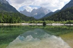 Lake in National Park Triglav, Eslovenia Royalty Free Stock Photos