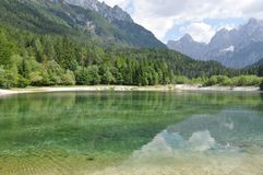 Lake in National Park Triglav, Eslovenia Stock Image