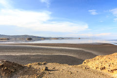 Lake Natron Landscape. Salty Lake Natron, Tanzania Royalty Free Stock Photography
