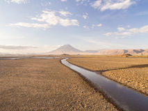Lake Natron and Ol Doinyo Lengai Royalty Free Stock Image