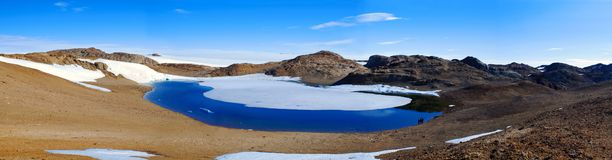 Lake of natural clean water, on the mountainous terrain stock photography
