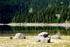 Lake in nature Stock Photos