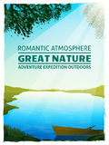 Lake Nature Landscape Background Poster Stock Photography