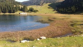 Lake in nature. Natural lake on the mountain Royalty Free Stock Photos