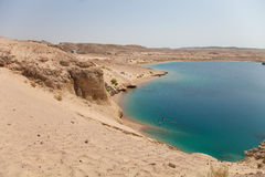 Lake in the nature reserve Ras Mohammed in Egypt. Selective focu Stock Photography
