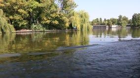 Lake navigation stock video footage