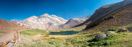 Lake in the near of Aconcagua Royalty Free Stock Photography