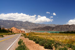 Lake near Andes in Argentina Stock Photos
