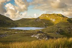 A lake near the cliffs at Slibh Liag, Co. Donegal.  royalty free stock photo
