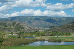 Lake near golf course snowmass colorado Stock Photography