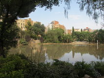 Lake near La Sagrada Familia Stock Photo