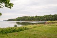 A lake near Panmure Island on PEI Stock Photography