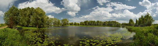 Lake near Pavlodar Royalty Free Stock Image