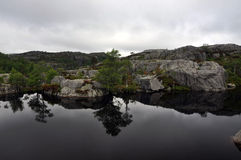 Lake near Preikestolen Stock Image