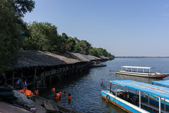 Lake near Siem Reap Royalty Free Stock Photography